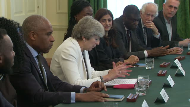 interior shots of british prime minister theresa may holding a racial disparity meeting on 10th october 2017 london, england. - multiracial group stock videos & royalty-free footage
