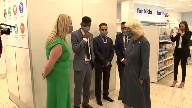 GBR: The Duchess of Cornwall visits the recently reopened National Gallery and a branch of Boots in Picadilly