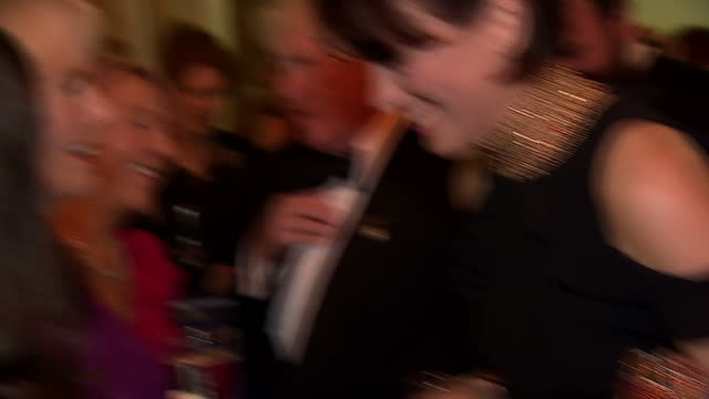 interior shots of camilla duchess of cornwall meeting invited guests dignitaries and writers at the man booker prize awards on october 25 2016 in... - man booker prize stock videos & royalty-free footage