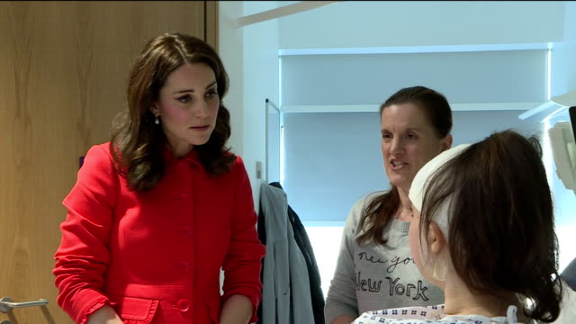 Interior shots of Catherine Duchess of Cambridge visiting Great Ormond Street Hospital and meeting with some patients and their parents>> on January...