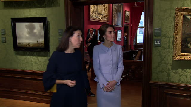Interior shots of Catherine Duchess of Cambridge visiting the Mauritshuis art gallery>> on October 11 2016 in The Hague Netherlands