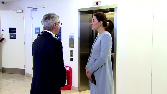 Interior shots of Catherine Duchess of Cambridge Visiting the Maurice Wohl Clinical Neuroscience Institute on January 23 2018 in London England