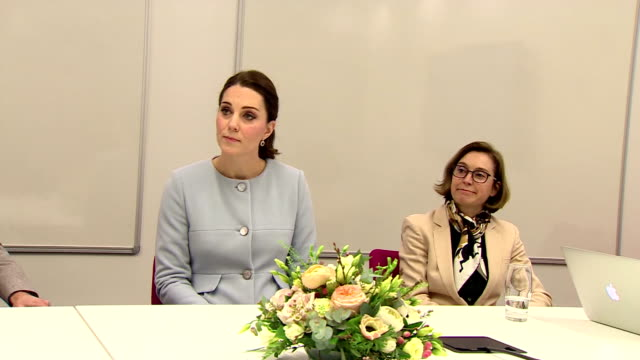 interior shots of catherine duchess of cambridge visiting the maurice wohl clinical neuroscience institute on january 23, 2018 in london, england. - neuroscience stock videos & royalty-free footage