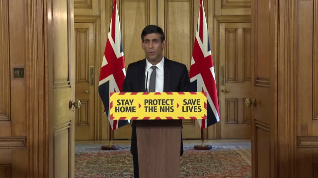 interior shots of chancellor rishi sunak giving a daily coronavirus press briefing at downing street, warning of the impact on the economy on 14... - impact stock videos & royalty-free footage