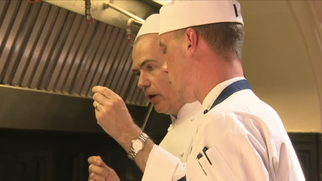 interior shots of chefs at work in windsor castle kitchens on 10 may 2018 in windsor united kingdom - chef stock videos & royalty-free footage