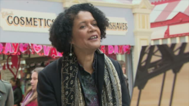 Interior shots of Chi Onwurah MP on a walkabout of Newcastle's historic Grainger Market chatting to stallholders and members of the public on January...