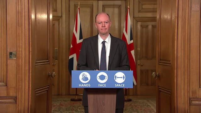 GBR: Chris Whitty delivers Downing Street Covid-19 press briefing
