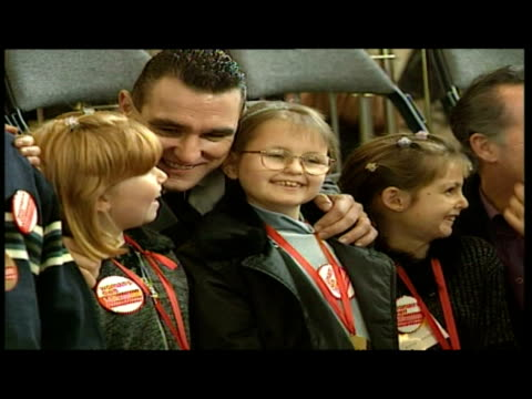 interior shots of children of courage award winners posing for photos with michael barrymore, vinnie jones, gaby roslin and others. interior close up... - gaby roslin stock videos & royalty-free footage