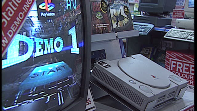 Interior shots of children playing with a Phase Phantom 2 controller a sony playstation on display Nintendo 64 boxed accessories and the console on...