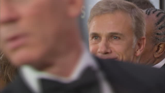 Interior shots of Christoph Waltz at the Royal World Premiere of 'Spectre' at Royal Albert Hall on October 27 2015 in London England