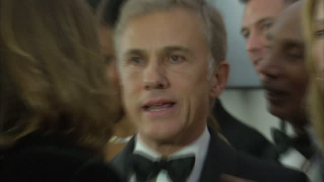 Interior shots of Christoph Waltz waiting in line to meet the Royal Family at the Royal World Premiere of 'Spectre' at Royal Albert Hall on October...