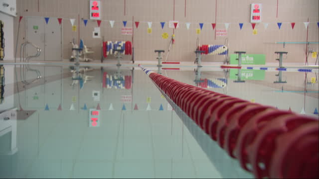 interior shots of clapham leisure centre after easing of lockdown restrictions on 4th april 2021 in london, united kingdom - swimming pool stock videos & royalty-free footage