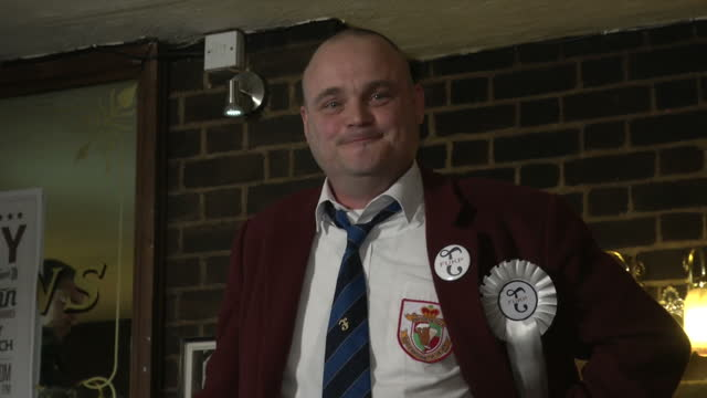 interior shots of comedian al murray speaking to journalists at the launch of his political campaign in thanet on march 13, 2015 in sandwich, united... - al murray stock videos & royalty-free footage