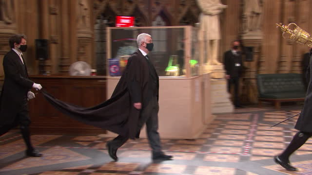 GBR: Speaker's Procession into the House of Commons led by Speaker Sir Lindsay Hoyle