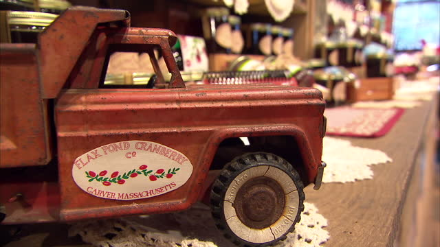 interior shots of cranberry derived products and cranberries in a crate on the shelves of a gift shop of a cranberry farm on december 17, 2009 in... - cranberry stock videos & royalty-free footage