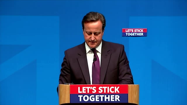interior shots of david cameron's speech to the people of scotland saying a yes vote will be forever on september 15 2014 in aberdeen scotland - yes single word stock videos & royalty-free footage