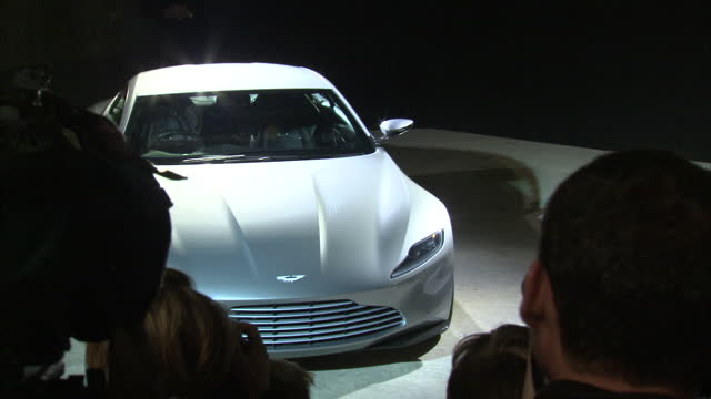 interior shots of director sam mendes revealing the new aston martin db10 car which will appear in the forthcoming james bond movie 'spectre'>> on... - sam mendes stock videos & royalty-free footage