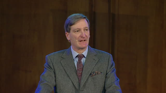 Interior shots of Dominic Grieve MP speaking at an 'Emergency Convention' on Brexit on 11 January 2019 in London United Kingdom