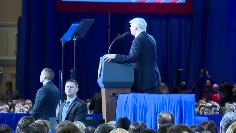 interior shots of donald trump speaking at the cpac conference with cutaways to his supporters in the audience, many of whom wear 'make america great... - cutaway video transition stock videos & royalty-free footage