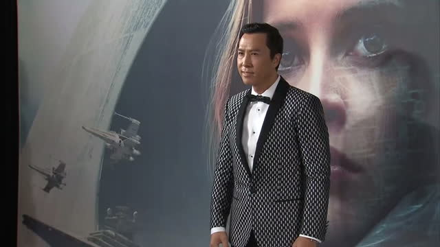 Interior shots of Donnie Yen actor at the 'Rogue One A Star Wars Story' premiere at BFI Imax on December 13 2016 in London England