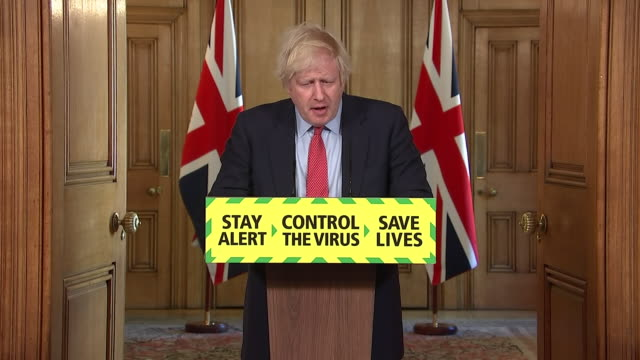 GBR: Downing Street's daily coronavirus press briefing led by Boris Johnson