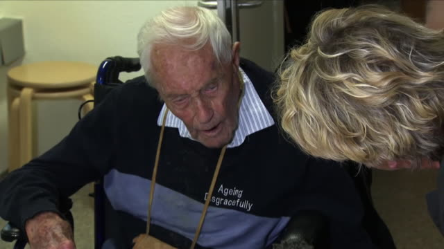 interior shots of dr david goodall seated at a table and responding to questions from sky news correspondent michelle clifford on 10 may 2018 in... - euthanasia stock videos & royalty-free footage
