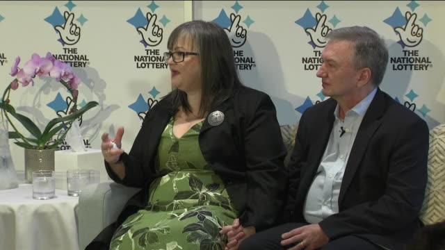 interior shots of euromillions lottery winners frances and patrick connelly from county armagh speaking about their lucky win on 4 january 2019 in co... - county armagh stock videos & royalty-free footage