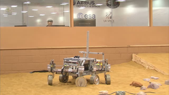 interior shots of exomars rover robot in testing area at airbus defence and space facility on november 17 2014 in stevenage england - stevenage stock videos and b-roll footage