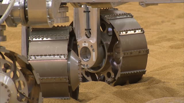 interior shots of exomars rover robot in testing field at airbus defence and space on november 17 2014 in stevenage england - stevenage stock videos and b-roll footage
