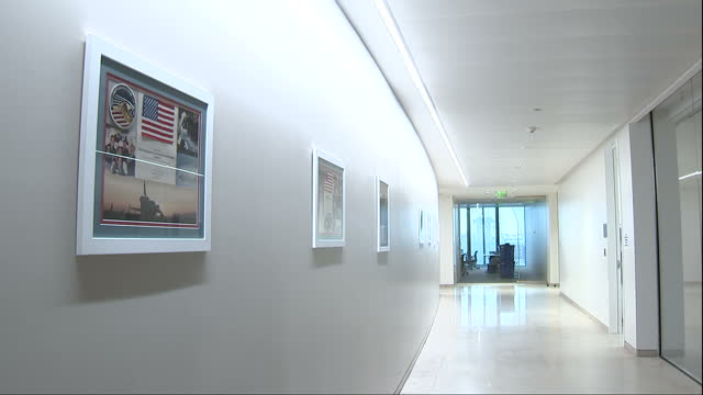 Interior shots of facilities inside the new US embassy in London including an interior garden space>> on January 12 2018 in London England