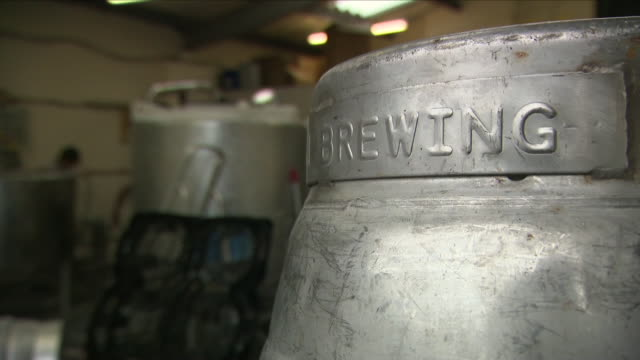 interior shots of firkins of cask ale on 20th june 2018 birmingham england - ale stock videos & royalty-free footage