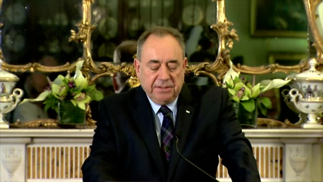 interior shots of first minister alex salmond speaking about the scottish referendum result. on september 19, 2014 in edinburgh, scotland. - 2014 stock videos & royalty-free footage
