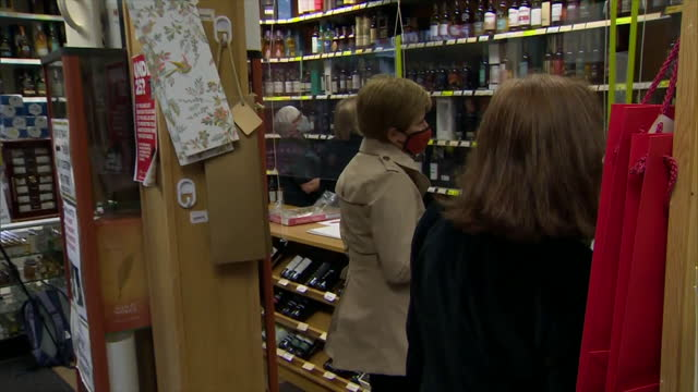 GBR: First Minister Nicola Sturgeon campaigns in Midsteeple Quarter in Dumfrieshire