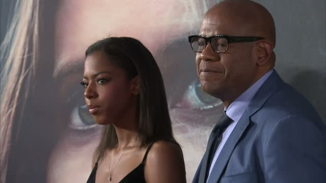Interior shots of Forest Whitaker actor with daughter True Whitaker posing at the 'Rogue One A Star Wars Story' premiere at BFI Imax on December 13...