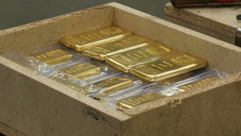 interior shots of gold bars being packed into a crate at the baird & co gold and precious metals refinery on august 10, 2017 in london, england. - financial item stock videos & royalty-free footage