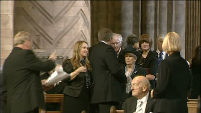interior shots of graham taylor at bobby robson's funeral service at durham cathedral on september 21st 2009 in durham england - イングランド ダラム点の映像素材/bロール