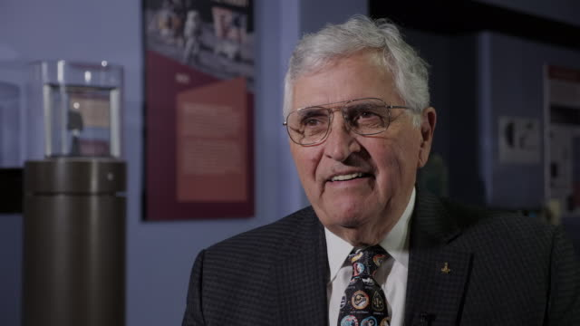 interior shots of harrison schmitt apollo 17 astronaut interview on 20th july 2019 in washington untied states - untied stock videos and b-roll footage