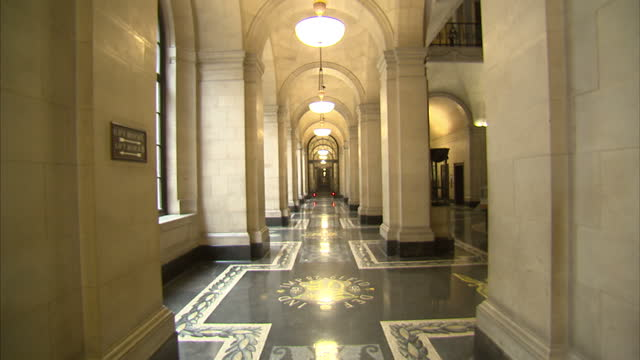 Interior shots of historic Bank of England building on June 23 2014 in London England
