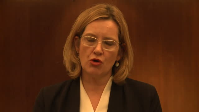 Interior shots of Home Secretary Amber Rudd making a statement in response to the terror attack on Westminster 'We do not yet know the full impact of...
