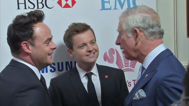 stockvideo's en b-roll-footage met interior shots of hrh prince charles prince of wales meeting ant dec and singer rita ora at the prince's trust's celebrate success awards on march 07... - ant mcpartlin