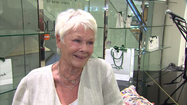 interior shots of interview with dame judi dench about her involvement with the charity acting for others on april 10, 2014 in london, england. - judi dench stock videos & royalty-free footage