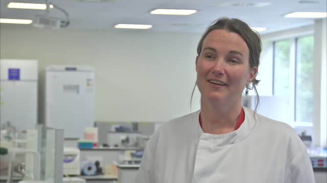 interior shots of interview with molecular microbiologist dr emma hayhurst on developing a new coronavirus testing at university of south wales on... - microbiology stock videos & royalty-free footage