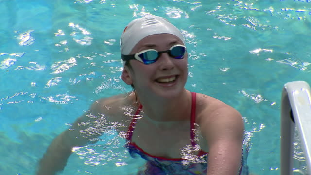 interior shots of irish paralympic swimmer ellen keane training on 17 november 2017 in dublin ireland - swimming stock videos & royalty-free footage