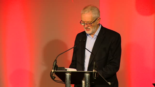 interior shots of jeremy corbyn taking the stage at unite scotland policy conference and states he is ready for a genereal election as soon as no... - ayr stock videos & royalty-free footage