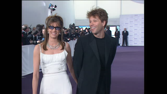 Interior shots of Jon Bon Jovi wife Dorothea Hurley posing giving an interview on the red carpet on arrival for the 'De Beers / Versace Diamonds Are...
