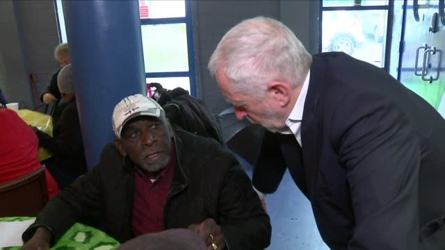 interior shots of labour leader jeremy corbyn meeting a carribbean community group in stockwell on 30 april 2018 in london united kingdom - ストックウェル点の映像素材/bロール