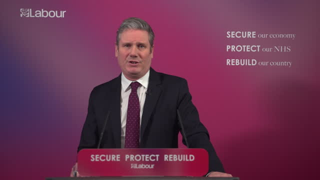 GBR: The Labour Leader Sir Keir Starmer has promised to lead a moral crusade against inequality, in a  speech outlining his plans  for Britain's economy after the pandemic.