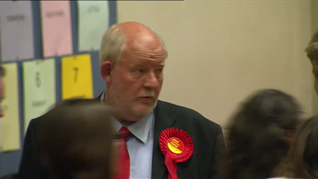 interior shots of labour mp for norwich south charles clarke in counting hall awaiting the results on may 07, 2010 in norwich, england. - charles clarke uk politician stock videos & royalty-free footage