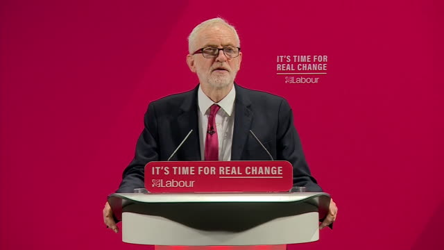 stockvideo's en b-roll-footage met interior shots of labour party leader jeremy corbyn giving a speech at labours faith and race manifesto launch and speaks about bernie grant and... - manifest
