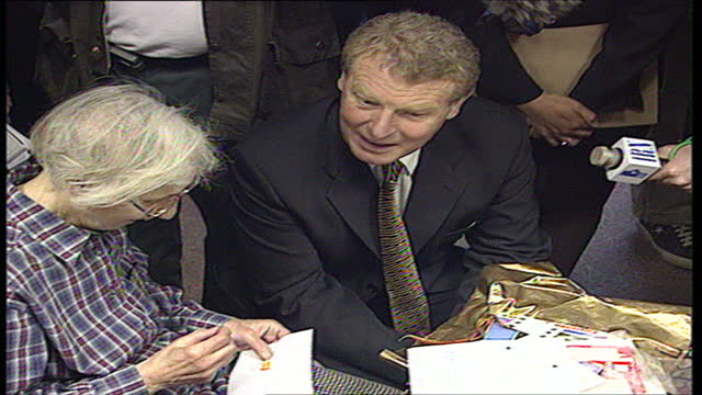 interior shots of leader of the liberal democrats paddy ashdown meeting members of the local community centre on april 25 1997 in christchurch england - british liberal democratic party stock videos and b-roll footage